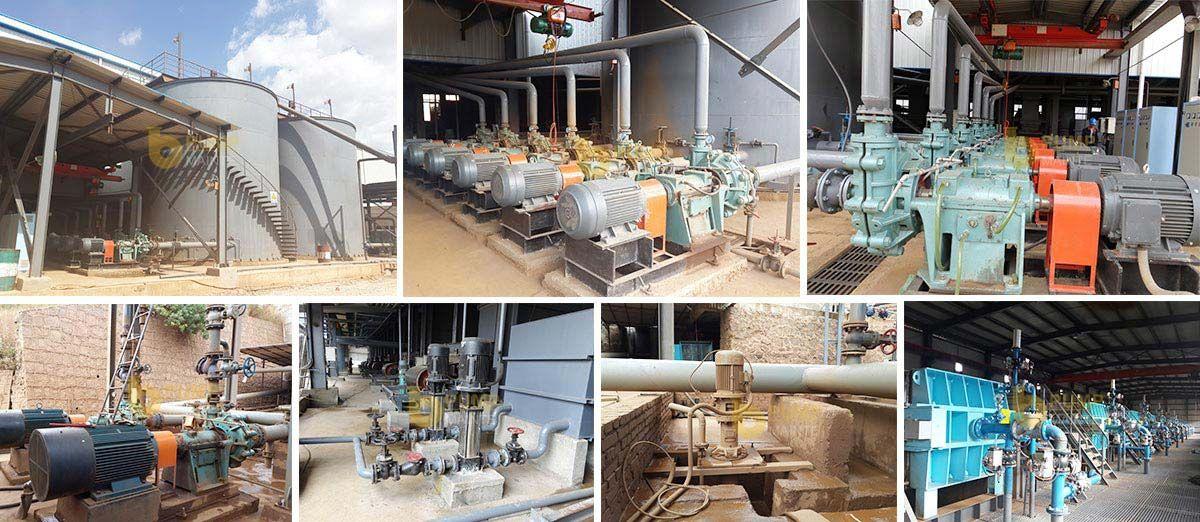A case of slag slurry pump for gold ore dressing